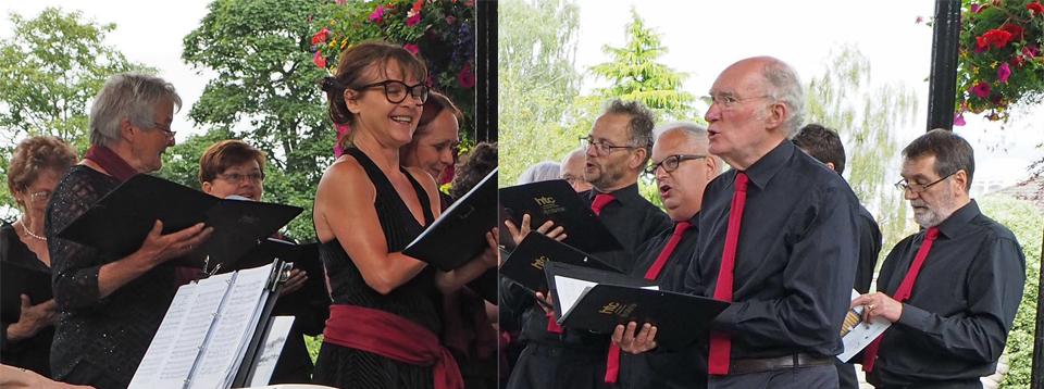 Inside the choir
