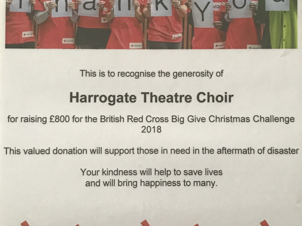 Red Cross thankyou