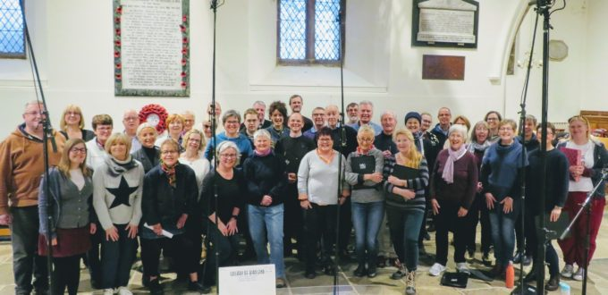 Harrogate Theatre Choir recording at All Saint's Church